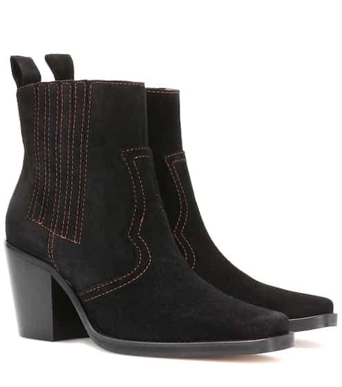 Ganni Ankle Boots Clemence aus Veloursleder