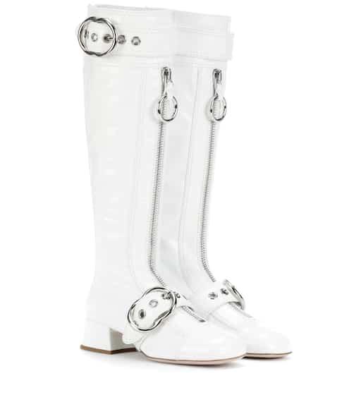 Miu Miu Stiefel aus Lackleder