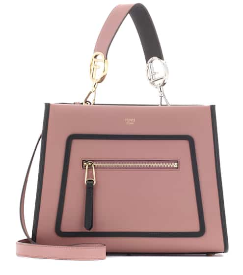 runway small leather shoulder bag fendi