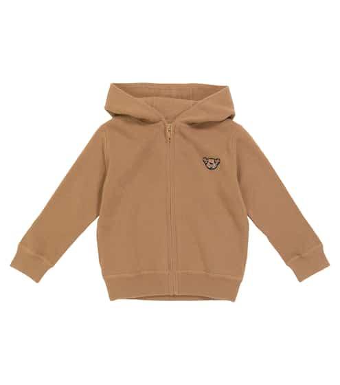 버버리 키즈 후드티 Burberry Teddy cashmere knit zip-up hoodie