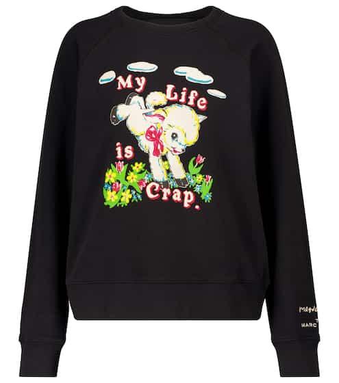 마크 제이콥스 X 마그다 아처 콜라보 맨투맨 - 블랙 ('바라던 바다' 이지아 착용) Marc Jacobs x Magda Archer The Sweatshirt cotton sweatshirt
