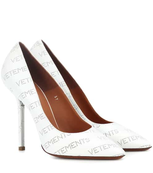 Vetements Perforated Logo Leather Pumps Gr. IT 37 uBHpvvCpq