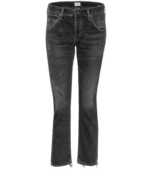 Citizens of Humanity Cropped Jeans in Distressed-Optik
