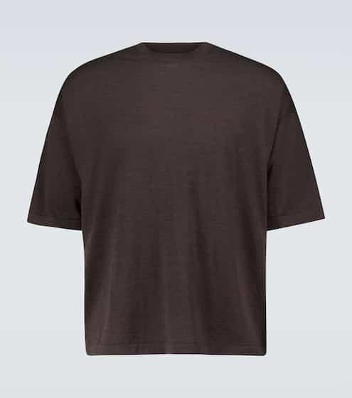 더 로우 맨 티셔츠 The Row Dlomu wool T-shirt