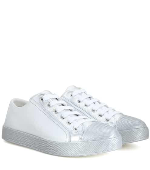 Prada Sneakers aus Metallic-Leder