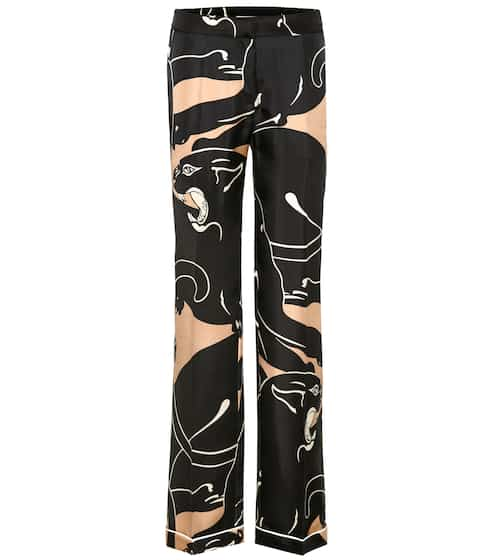Valentino Printed silk trousers