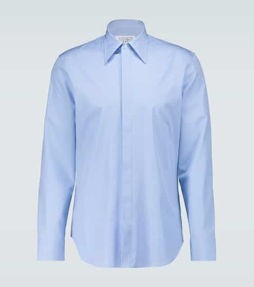 메종 마르지엘라 Maison Margiela Cotton poplin slim-fit shirt