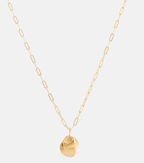 알리기에리 목걸이 (24K 도금, 핸드메이드, 메이드 인 잉글랜드) Alighieri Minerva 24kt gold-plated bronze necklace