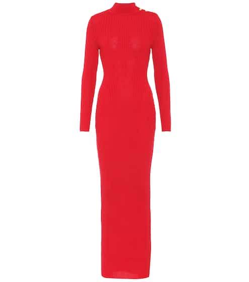Balmain Langes Kleid aus Wolle