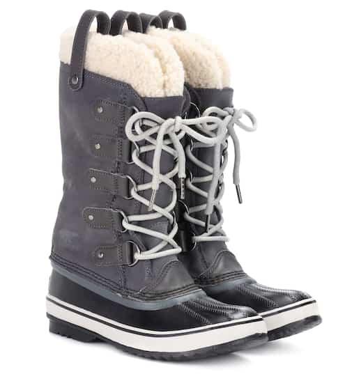 Sorel Boots Joan of Artic aus Veloursleder und Shearling