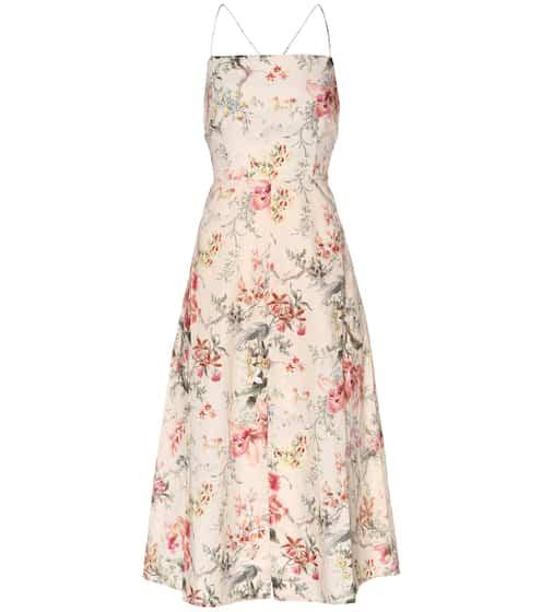 Zimmermann Kleid aus Leinen und Baumwolle