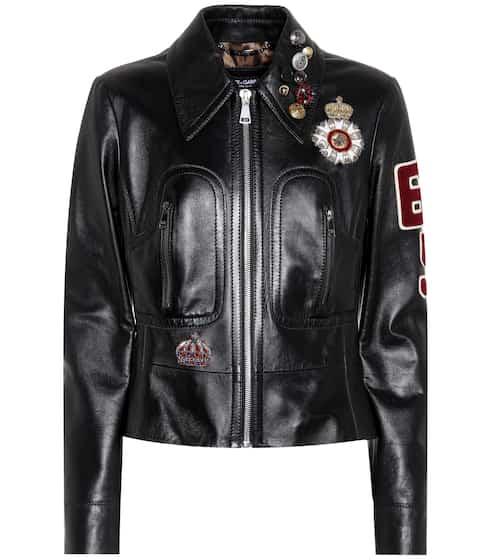 Dolce & Gabbana Verzierte Lederjacke