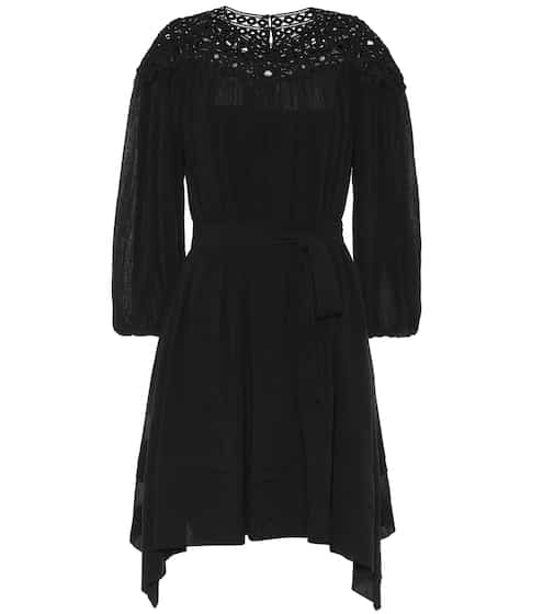 이자벨 마랑 에뚜왈 리타 자수 드레스 블랙 Isabel Marant, EEtoile Rita embroidered cotton dress, Black
