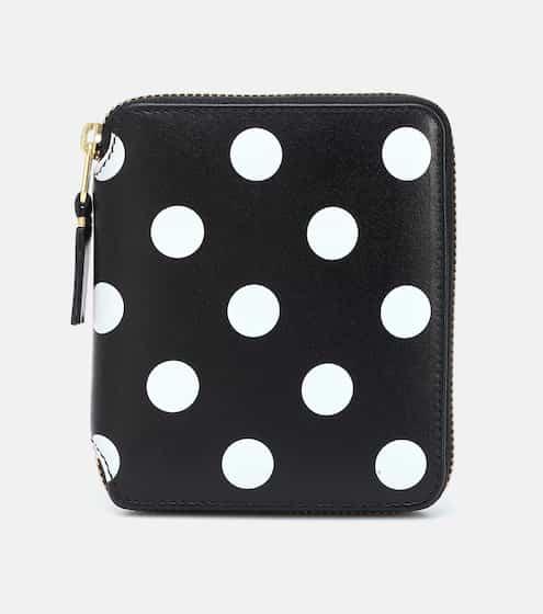꼼데가르송 도트 지갑 미디움 - 블랙 Comme Des Garcons Wallet Dots Medium leather wallet