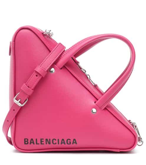 발렌시아가 트라이앵글 더플백 엑스스몰 핑크 Balenciaga Triangle Duffle XS leather tote
