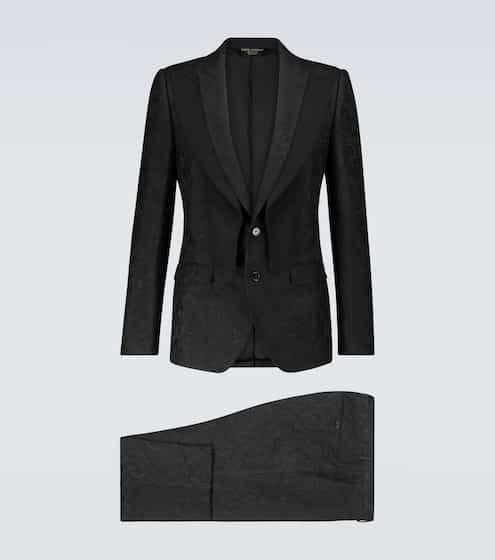 돌체 & 가바나 Dolce & Gabbana   jacquard single-breasted suit