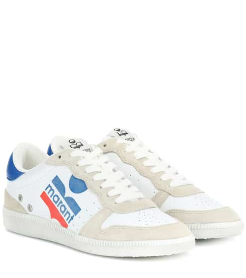 43594fe0216 Bulian leather and suede sneakers   Isabel Marant