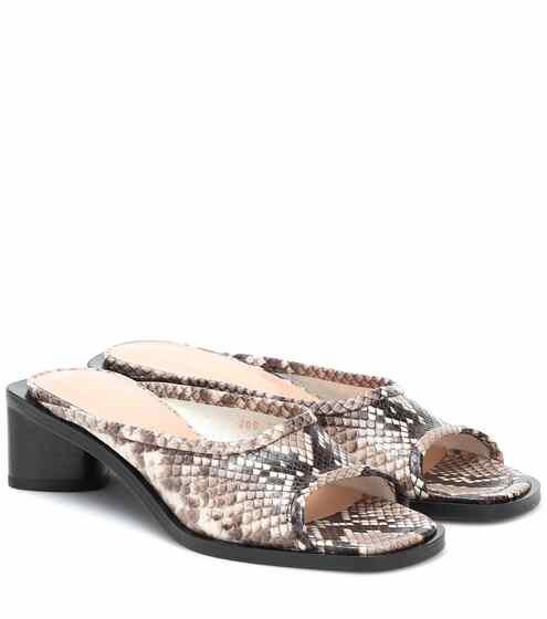 아크네 스튜디오 Acne Studios Snake-effect leather sandals