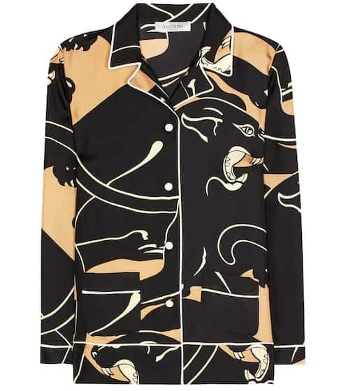 Valentino Pyjamabluse aus Seiden-Twill