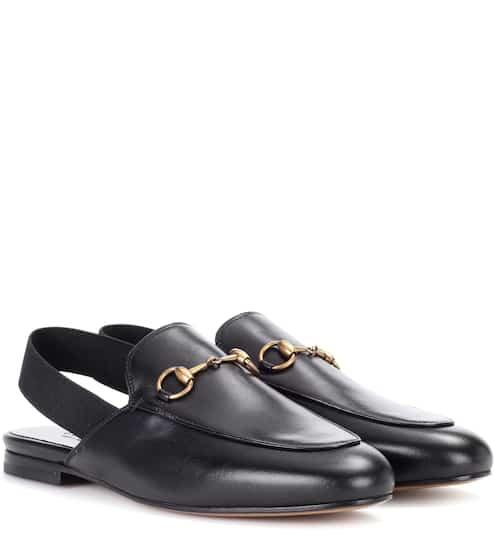 Gucci Slingback-Slippers Princetown aus Leder