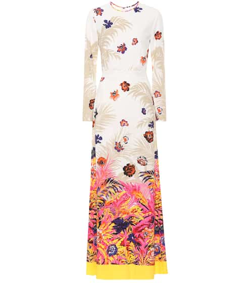 Floral-printed maxi dress by MSGM, available on mytheresa.com for EUR285 Bella Hadid Dress SIMILAR PRODUCT