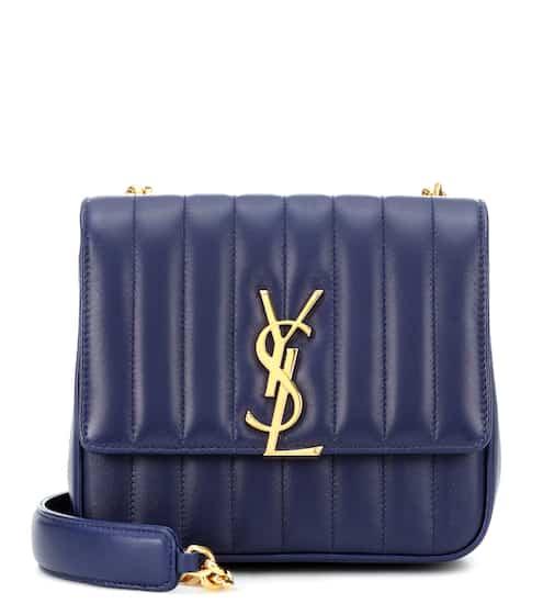 18 F/W 생 로랑 비키백 미디움 사파이어 Saint Laurent Vicky Medium leather shoulder bag