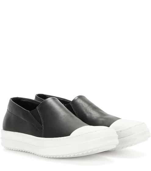 Rick Owens Slip-on-Sneakers Boat aus Leder