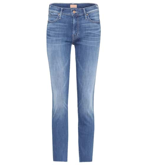 Mother High-Rise Jeans Rascal Ankle Snippet aus Baumwolle