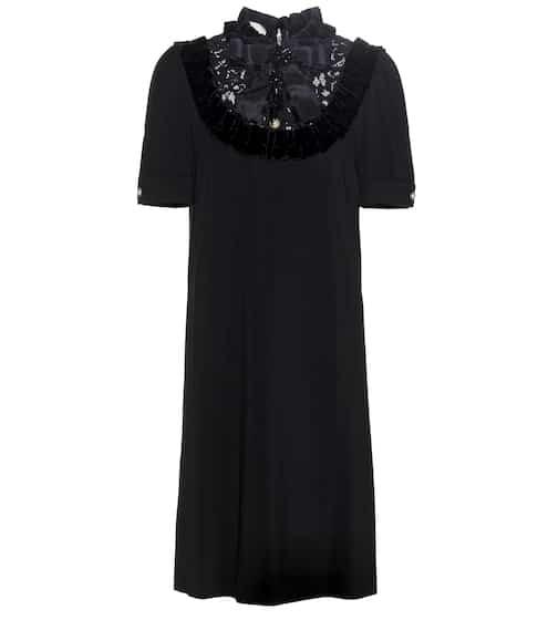 Gucci Verziertes Kleid aus Crêpe