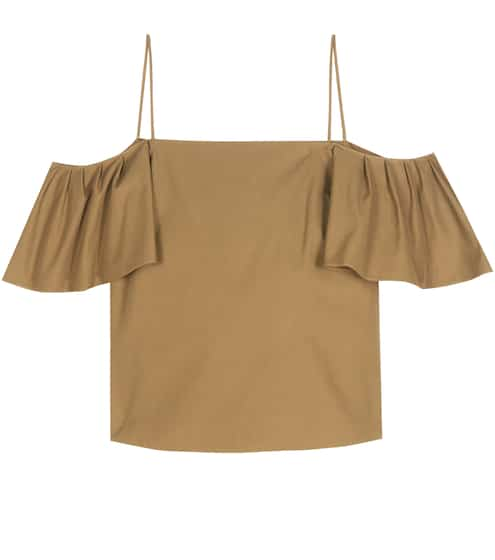 Fendi Off-Shoulder-Top aus Baumwolle !