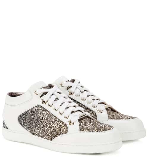 Jimmy Choo Sneakers Miami aus Leder mit Glitter