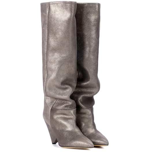 Isabel Marant Stiefel Lokyo aus Metallic-Leder