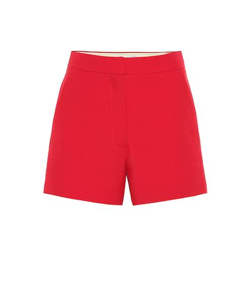 High-rise wool and silk shorts by Valentino, available on mytheresa.com for EUR290 Bella Hadid Shorts SIMILAR PRODUCT