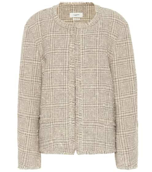 이자벨 마랑 에뚜왈 Ovia 체크 울 블레이저 - 베이지 Isabel Marant Etoile checked wool-blend jacket