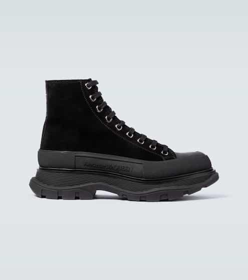 알렉산더 맥퀸 Alexander McQueen Tread Slick suede platform sneakers