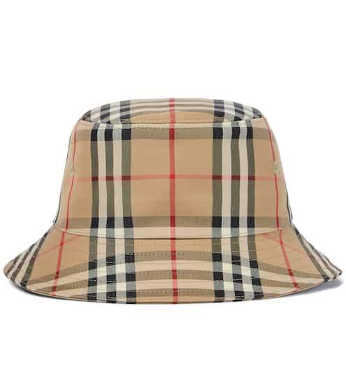 버버리 키즈 버킷햇 Burberry Vintage Check cotton-blend bucket hat