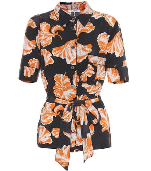 Ganni Bedruckte Bluse aus Seide