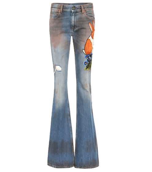 appliquéd flared jeans | Gucci