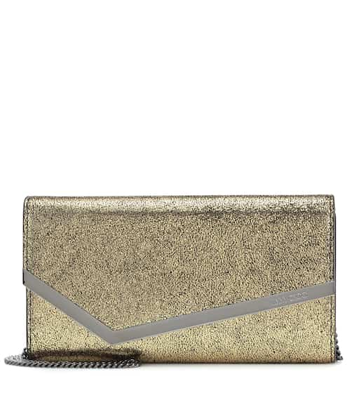 Free Shipping Visit Cheap Sale 2018 Emmie glittered velvet clutch Jimmy Choo London koP9rusXA
