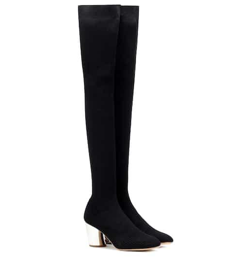 95486c8d9d874c Overknee-Stiefel aus Stretch-Material