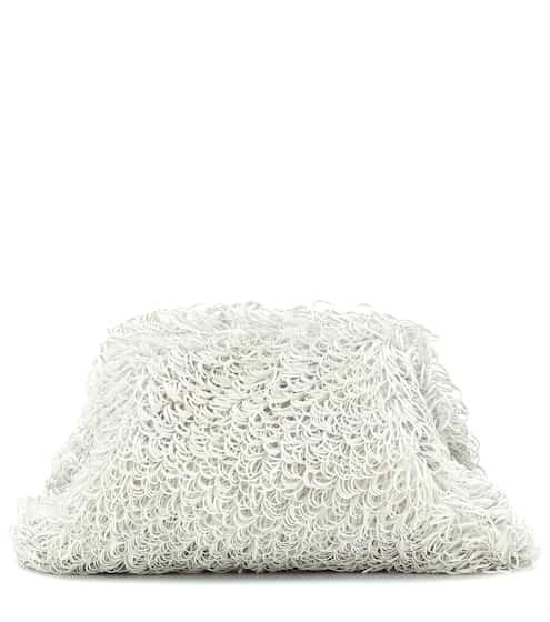 보테가 베네타 스폰지 클러치 - 비앙코 Bottega Veneta The Sponge Pouch Large leather clutch