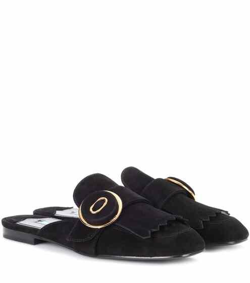 Prada Slippers aus Veloursleder