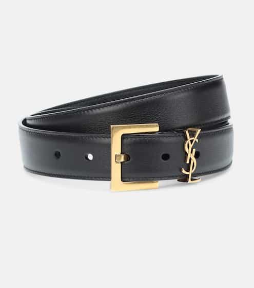 생 로랑 모노그램 가죽 벨트 Saint Laurent Monogram leather belt
