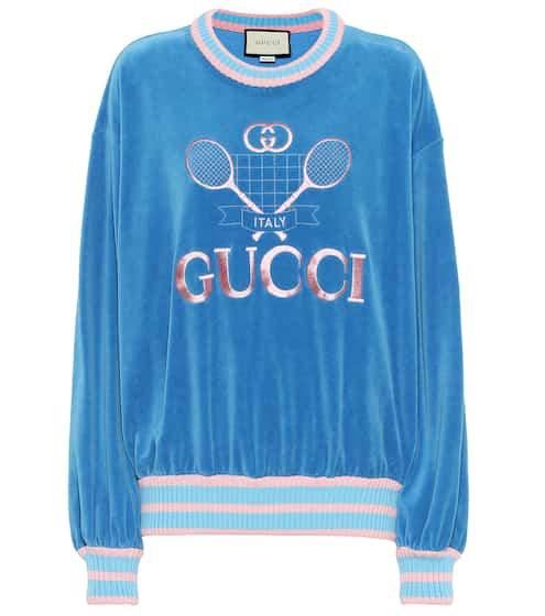 d8894a1fe Gucci Tennis cotton chenille sweatshirt | Gucci
