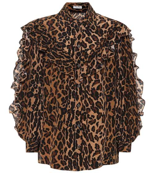 2df48fb80cbae Leopard-printed silk shirt