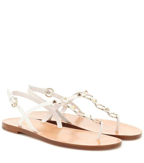 20b2cd5876be Valentino Garavani Cagestuds leather sandals