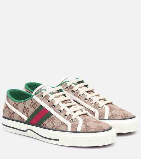 구찌 테니스 1977 스니커즈 여성용 Gucci Tennis 1977 canvas sneakers