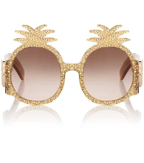Gucci Verzierte Sonnenbrille