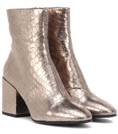 41194a7a130c13 Dries Van Noten Metallic Leather Ankle Boots from mytheresa - Styhunt