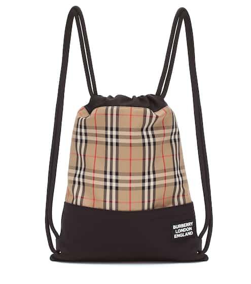 버버리 체크 스트링 백팩 Burberry Check drawstring backpack